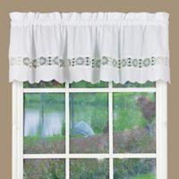 Caylee Kitchen Window Valance in White