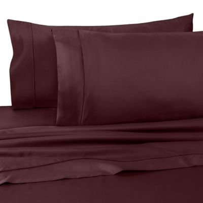 wamsutta dream zone king fitted sheet in mauve