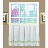 Caylee 24-Inch Kitchen Window Curtain Tier Pair in Ecru