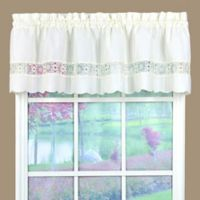 Caylee Kitchen Window Valance in Ecru