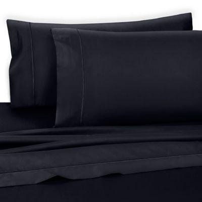 wamsutta dream zone king flat sheet in navy - Pima Cotton Sheets