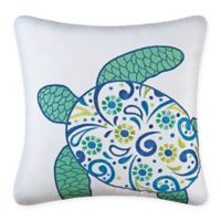 Imperial Coast Sea Turtle 18-Inch Square Throw Pillow