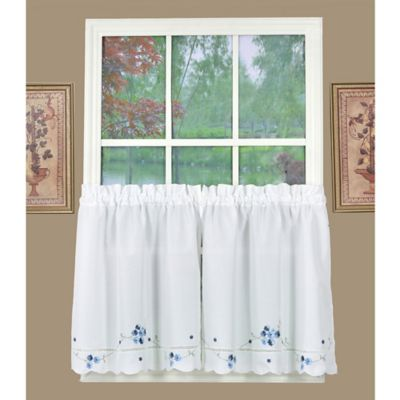 Buy Blue Kitchen Curtains from Bed Bath