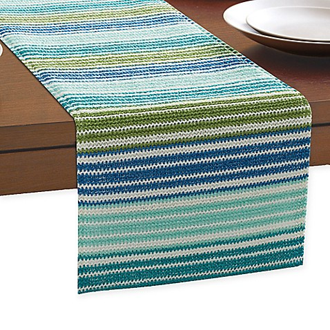 Ombre Stripe Outdoor Indoor Table Runner Bed Bath Amp Beyond