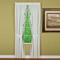 Annabelle 84-Inch Rod Pocket Window Curtain Panel Pair in White