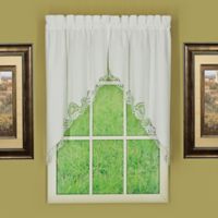 Annabelle Window Swag Pair in White