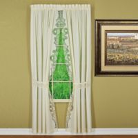 Annabelle 63-Inch Rod Pocket Window Curtain Panel Pair in Ecru