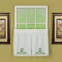 Annabelle 24-Inch Kitchen Window Curtain Tier Pair in White