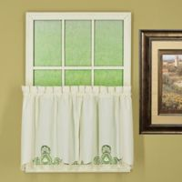 Annabelle 24-Inch Kitchen Window Curtain Tier Pair in Ecru