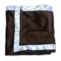 Go Mama Go Designs® Luxurious Minky Blanket in Blue/Chocolate