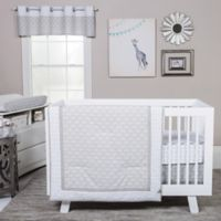 Trend Lab® Art Deco 3-Piece Crib Bedding Set in Grey/White