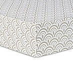Trend Lab® Art Deco Scallop Fitted Crib Sheet in Grey/White