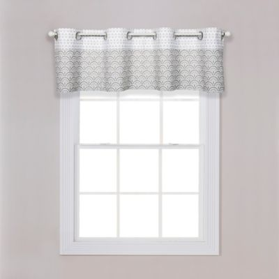 Buy White Scalloped Valance from Bed Bath Beyond