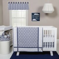 Trend Lab® 3-Piece Hexagon Crib Bedding Set in Navy/White