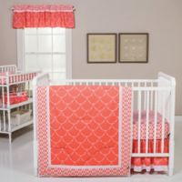 Trend Lab® 3-Piece Shell Crib Bedding Set in Coral/White