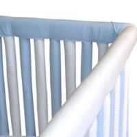 Go Mama Go Designs® 2-Pack Organic Cotton 30-Inch x 6-Inch Teething Guards in Blue/White