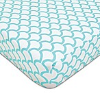American Baby Company® Sea Wave Fitted Crib Sheet in Aqua/White