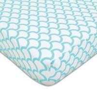 American Baby Company® Sea Wave Fitted Crib Sheet in Aqua/White