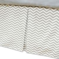 American Baby Company® Zigzag Crib Skirt in Grey/White