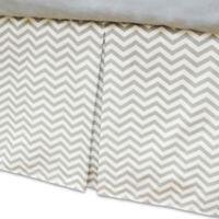 American Baby Company® Zigzag Crib Skirt in Grey/White