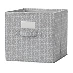 Modular Cube Grid Bin in Grey (Set of 2)