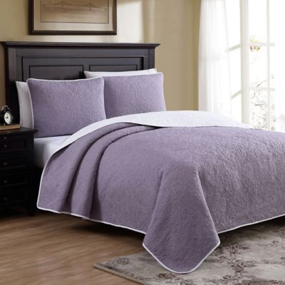 marseille reversible fullqueen quilt set in lilac - Liliac Bedding