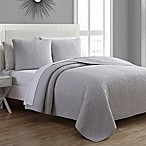 Tristan King Quilt Set in Silver