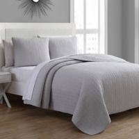 Tristan Twin Quilt Set in Silver