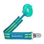 Booginhead® PaciGrip Blue/Green Stripe Pacifier Holder