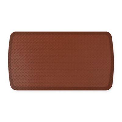 GelPro Elite Basketweave 20 Inch X 36 Inch Kitchen Mat In Chestnut