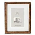 Prinz 5-Inch x 7-Inch Distressed Pallet Wood Frame with Mat in Coffee