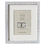 Prinz 5-Inch x 7-Inch Distressed Pallet Wood Frame with Mat in White