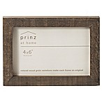 Prinz 4-Inch x 6-Inch Distressed Pallet Wood Frame in Grey