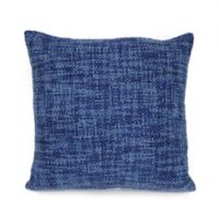 Brandon Square Throw Pillow in Indigo