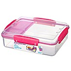 Sistema® Snack Attack Duo-To-Go 32.9 oz. Food Container in Pink