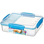 Sistema® Snack Attack Duo-To-Go 32.9 oz. Food Container in Blue