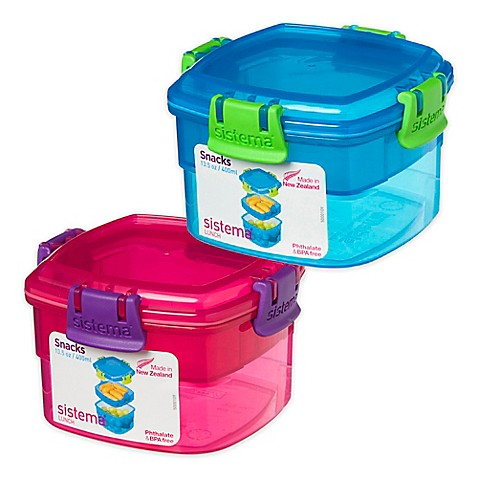 SistemaR Snacks To Go 135 Oz Lunch Container