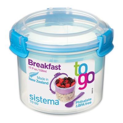 Sistema® 17.9 Oz. Breakfast To Go Food Storage Container With Spoon In