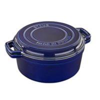 Staub Cast Iron 7 qt. Braise and Grill in Dark Blue