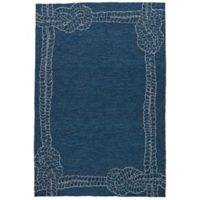 Jaipur Coastal Lagoon Killians 7-Foot 6-Inch x 9-Foot 6-Inch Indoor/Outdoor Area Rug in Blue/Grey
