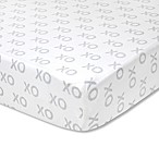 Wendy Bellissimo™ Mix & Match XOXO Fitted Crib Sheet in Grey