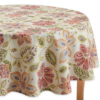 Croscill® Tessa 70 Inch Round Tablecloth In Multi