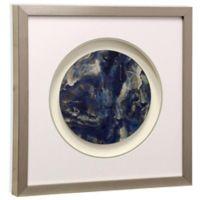 Mirrored Blue Foil Planet Shadowbox Wall Art