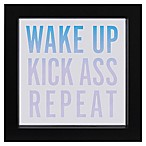 "LED ""Wake Up, Repeat"" Sentiment Framed Wall Art"
