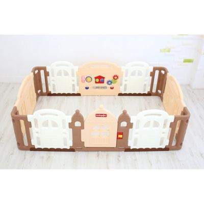 Dwinguler Large Kidu0027s Castle Playpen In Caramel