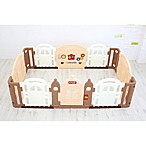 Dwinguler Large Kid's Castle Playpen in Caramel