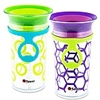 Sassy® 2-Pack 9 oz. Grow Up Cup™ in Green/Purple
