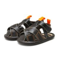 Stepping Stones Size 6-9M Cross Strap Sandal in Brown