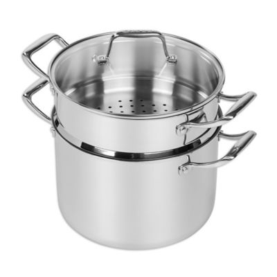 MAKER Homeware™ Nonstick Tri Ply Stainless Steel 8 Qt. Stock Pot With  Steamer