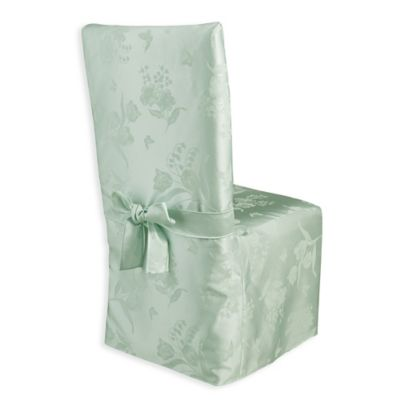 Spring Splendor Dining Room Chair Cover In Mint